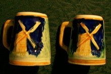S&P:  Figural Steins with Windmills