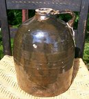 Stoneware Jug:  1800's Hand-Thrown