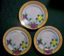 Japanese Lusterware Plate Set