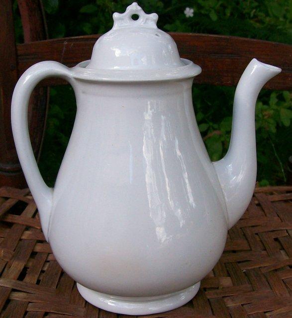 English White Ironstone Teapot: William Taylor Ca. 1860