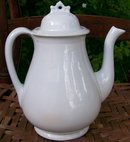 English White Ironstone Teapot: William Taylor Ca. 1860