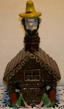 Hillbilly Figural Liquor Decanter:  1950's Japan