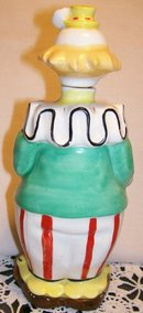 Clown Figural Ceramic Liquor Decanter 1950's Bar-Ware