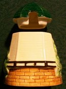 Figural Windmill Sugar/Honey/Jam Pot 1930's Japan Ceramic 4.25