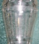 Imperial Engraved Glass Vase: Circa 1920's