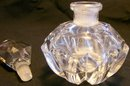 Cut Crystal Perfume Bottle with Faceted Stopper Clear 5.5
