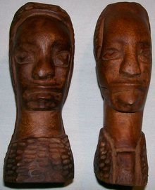 African Primitive Carvings: Man/Woman Pair