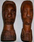 African Primitive Carvings: Man/Woman Pair
