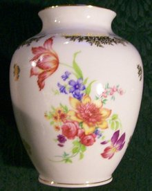 Plankenhammer Dresden-style Bavarian Ceramic Vase Multicolor 5 7/8