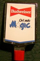 Budweiser/Orlando Magic Beer Tap Handle