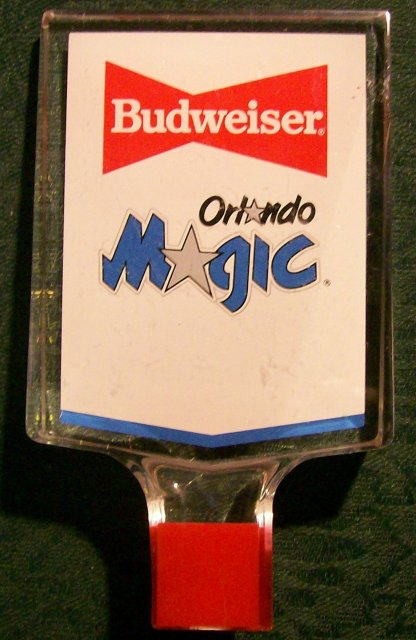 Budweiser/Orlando Magic Advertising Beer Tap Handle Acrylic RW&B
