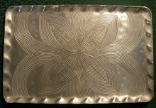 Canterbury Arts Hand-Wrought Aluminum Tray: Celtic Knot 1950's