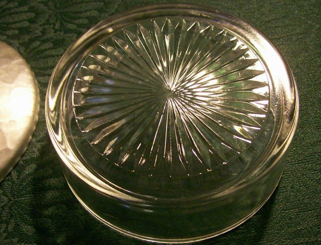 Rodney Kent Tulip Glass Dish w/ Hand-Wrought Aluminum Lid