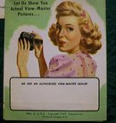1940's Viewmaster Viewer in Box with Extras