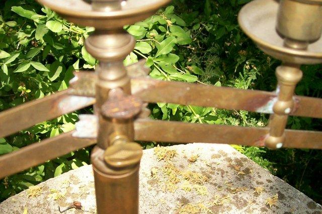 Adjustable Altar Candelabra:  Ca. 1880's