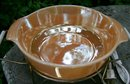 Copper-Tint Ovenware Glass Electric Warming Casserole