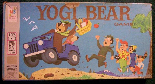 Milton Bradley Yogi Bear Board Game 1971 Complete