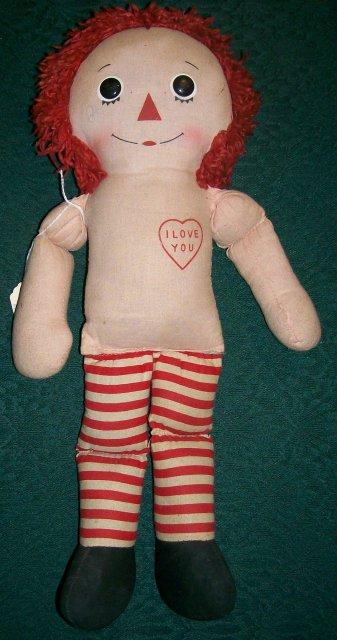 Raggedy Andy Cloth Doll by Knickerbocker 1950's-60's 15