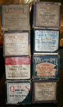 Player Piano Music Rolls with Boxes