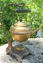Bradley & Hubbard Brass Teapot with Iron Stand 1890's