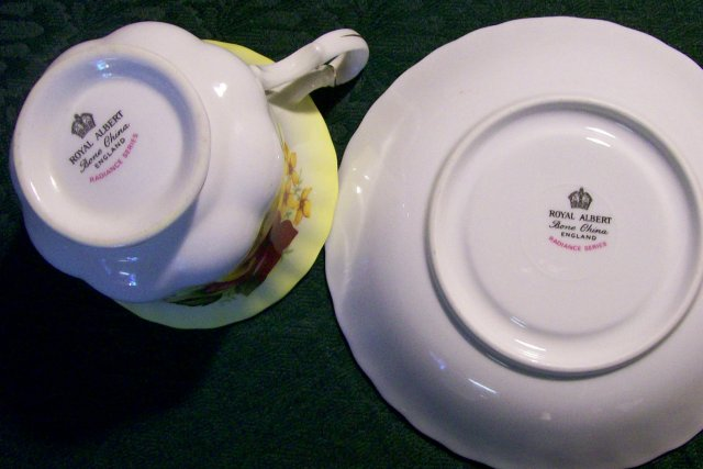 Royal Albert Bone China Cup & Saucer: Radiance Series