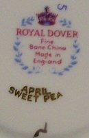 Royal Dover Bone China Cup & Saucer: April Sweet Pea