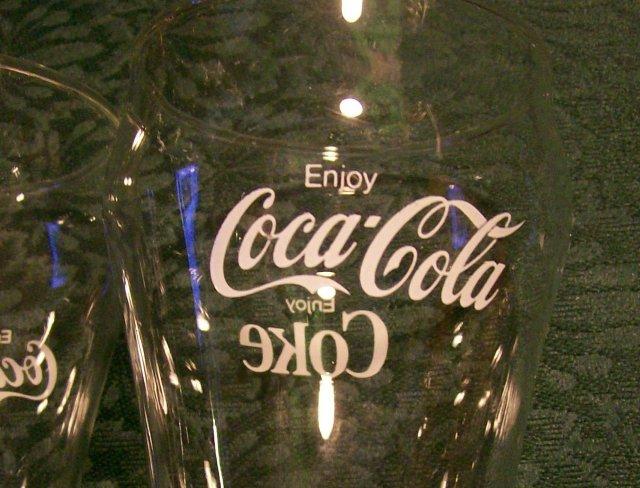 Coca-Cola Glass Tumbler Set of 4: Soda Fountain 1950's-60's