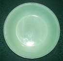 Hocking Fire-King Jade-ite Green Jane Ray Glass Soup Bowl