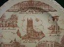 Vernon Kilns Durham North Carolina Souvenir Ceramic Plate 10.5