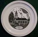 Berea Lutheran Church Pennsylvania Ceramic Plate Harker Pottery 1940s-50s