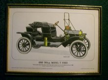 Framed Antique Auto Limited Edition Print: Ford Model T