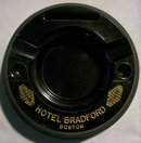 Hotel Bradford Bakelite Ashtray: Boston 1930+