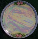 Bavarian Plate Set: Hand-Painted Roses & Luster