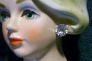 NAPCO Lady's Head Ceramic Vase  #7313 Blonde with Black Dress 4.5