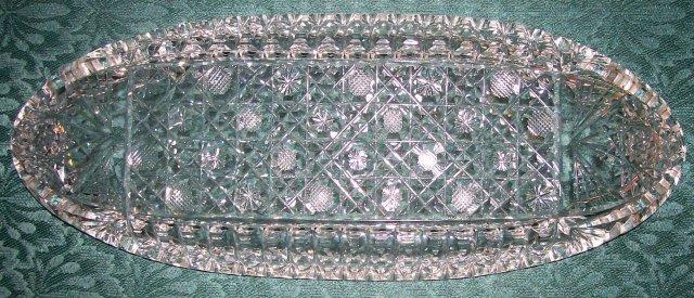 Brilliant Cut Glass Celery Tray Ca. 1900