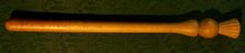 Victorian Wooden Truncheon/Baton with Thistle Decoration