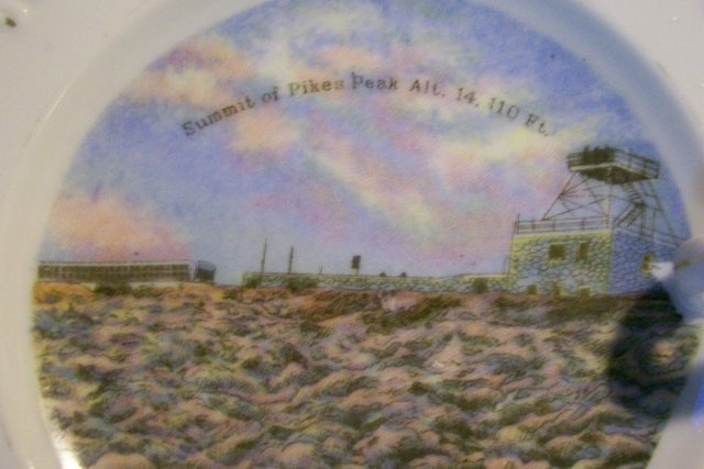 Pikes Peak Souvenir Ceramic Lemon Dish Occupied Japan 1945-52