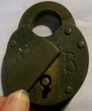 Bronze Padlock with Chain:  Wilson Bohannan