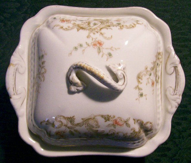 Royal Vitreous Ceramic Covered Butter Dish Maddock & Sons England 1880-96