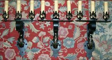 Wrought Iron Sconce Set of 3:  Early 1900's