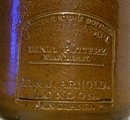 Bourne/Denby Stoneware Master Ink Bottle Quart Ca. 1862