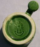 McCoy Pottery Schering Coricidin Pharmacy Advertising Mug Green 1960s-70s 4