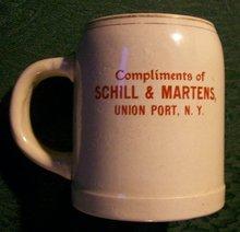 Schill & Martens Advertising Beer Mug with Verse
