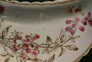 Aesthetic Brown Transfer Ceramic Bone Dish Enamel Trim 1870's-90's
