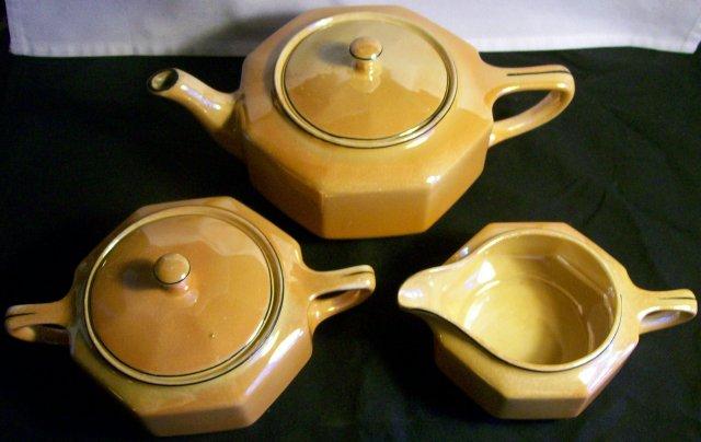 Steubenville Luster Tea Set:  Art Deco