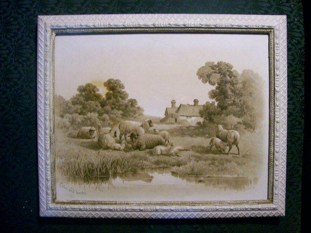 Albert Bowers Framed Print Pair:  Late 1800's