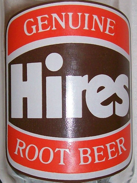 Hires Root Beer Glass Advertising Tumbler Set of 2 1970's Orange/Brown 5.25
