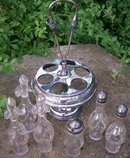 Meriden Silverplate Victorian 6-Bottle Castor Set
