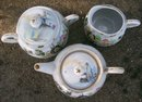 Geisha Girl Teapot/ Creamer/ Sugar: Water Wheel/ Mill