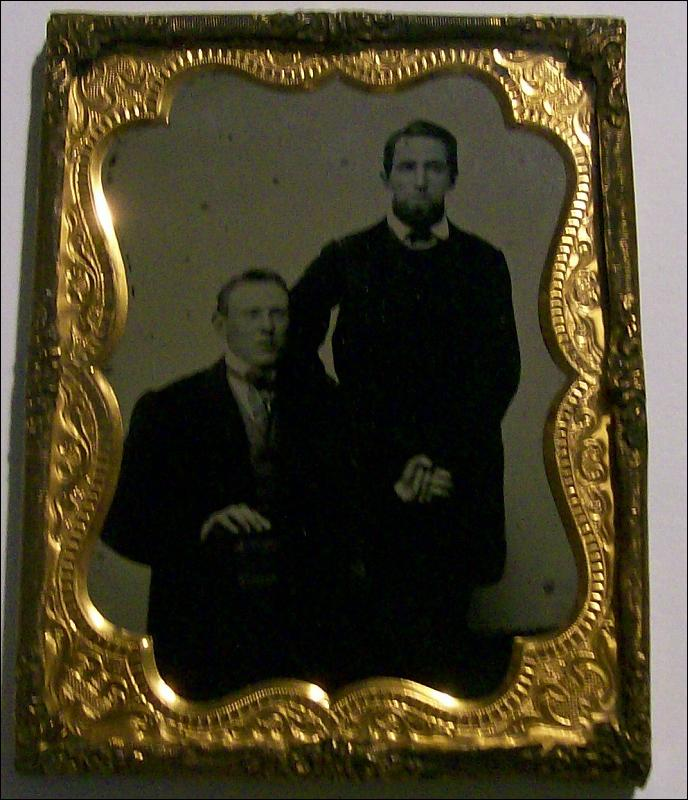 Ambrotype Photo of Two Men Holding Hands 1/4 Plate Mid-1800s